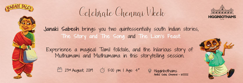 Chennai Event - The Story and The Song and Lion's Feast