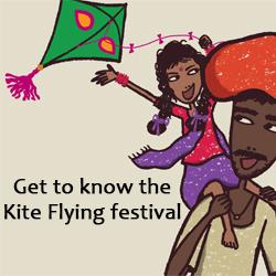 Falgu flying kite - thumbnail